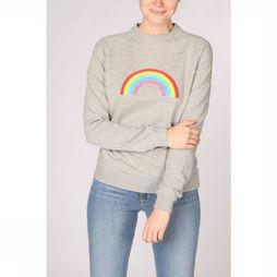 Sugarhill Boutique Pullover Laurie Boucle Rainbow Sweatshirt mid grey/Assortment Rainbow