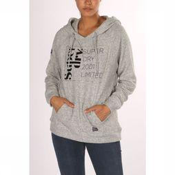 Superdry Pullersoft Oversized Graphic Hoodie Gris Clair Mélange