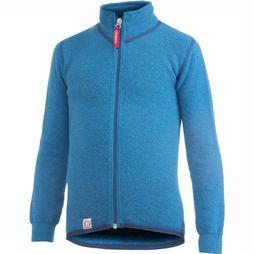 Woolpower Fleece Full Zip Jacket 400 (kids midlayer) blue