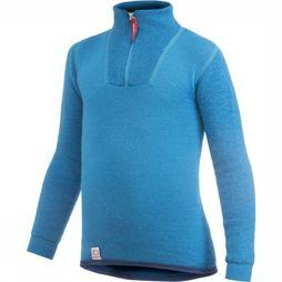 Woolpower Underwear Zip Turtle Neck 200 blue
