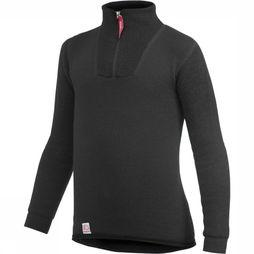 Woolpower Ondergoed Zip Turtle Neck 200 Zwart