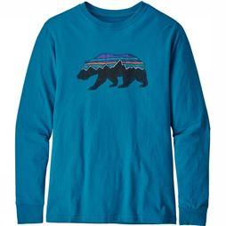 Patagonia Kids T-Shirt Paki B Long Sleeved blue