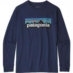 Patagonia Kids T-Shirt Paki B Long Sleeved dark blue
