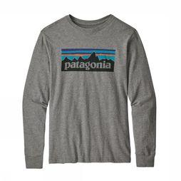 Patagonia Kids T-Shirt Paki B Long Sleeved Light Grey Mixture
