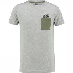 Ayacucho Junior T-Shirt Alfie Pocket Gris Clair Mélange