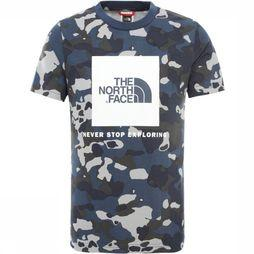 The North Face T-Shirt Box S/S Blauw/Assortiment Camouflage