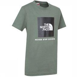 The North Face T-Shirt Box Kaki Moyen