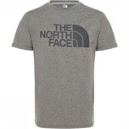 The North Face Polo Neck Boy'S S/S Reaxion 2.0 Light Grey Mixture