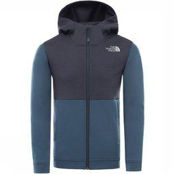 The North Face Pullover Slacker Full Zip Hoodie blue/dark blue