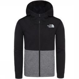 The North Face Pullover Slacker Full Zip Hoodie Light Grey Mixture/Black
