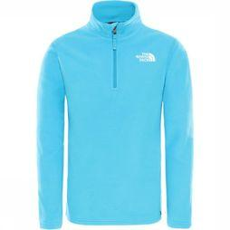 The North Face Pull Y Glacier 1/4 Zip (Recycled) Bleu Clair