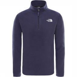 The North Face Pull Y Glacier 1/4 Zip (Recycled) marine