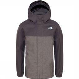 The North Face Manteau Boy'S Resolve Reflective Noir/Gris Foncé