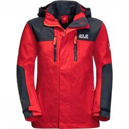 Jack Wolfskin Coat Jasper dark blue/red