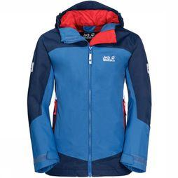 Jack Wolfskin Coat Akka dark blue/royal blue