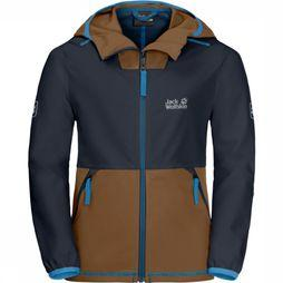 Jack Wolfskin Coat Turbulence Marine/Mid Brown