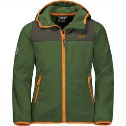 Jack Wolfskin Softshell Fourwinds Vert Moyen/Orange
