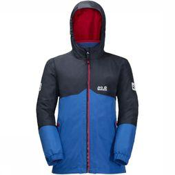 Jack Wolfskin Coat Iceland 3In1 mid blue/dark blue