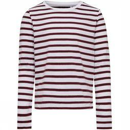 Kids Only T-Shirt pure L/S Top Jrs Bordeaux/Blanc Cassé