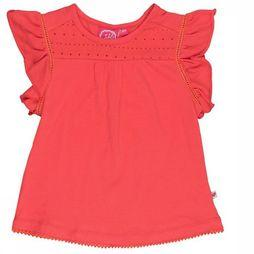 Jubel T-Shirt K/M Met Broderie Sea View red
