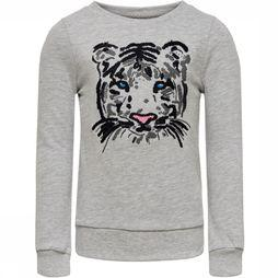 Kids Only Trui tiger L/S O-Neck Swt Lichtgrijs Mengeling