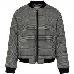 Kids Only Blazer poptrash Soft Check Bomber Jacket Gris Clair Mélange/Assortiment