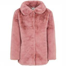 Name It Manteau fmona Faux Fur Rouge Clair