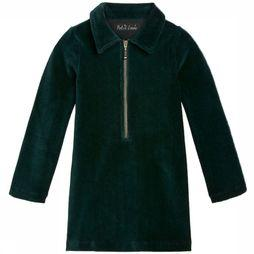 Petit Louie Dress Zip Rib Velours dark green