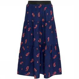 Kids Only Skirt Konrosa Above Calf Skirt Wvn dark blue/Assortment Flower