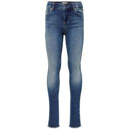 Kids Only Jeans Blush Skinny Raw 1303 Middenblauw