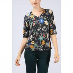 Terre Bleue Shirt Cesarine dark blue/Assortment Flower