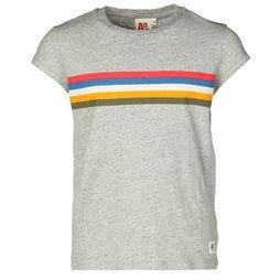 AO76 T-Shirt Stripes Light Grey Mixture