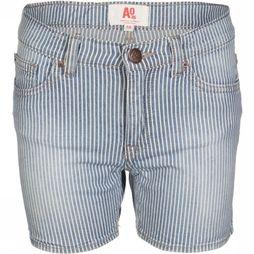 AO76 Short Kelly Stripe Jeans/Bleu Clair
