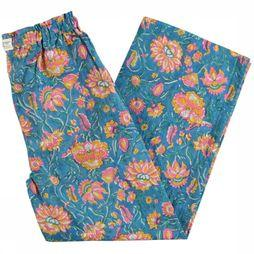 AO76 Trouser Mikasi blue/Assortment Flower