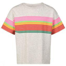 AO76 T-Shirt Oversized Striped Lichtgrijs Mengeling/Assortiment
