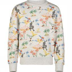 AO76 Pullover Oversized Island Light Grey Mixture/Assortment Flower