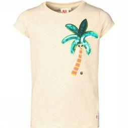 AO76 T-Shirt C-Neck Palm Ecru