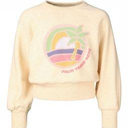 AO76 Pullover C-Neck Nep Palm off white