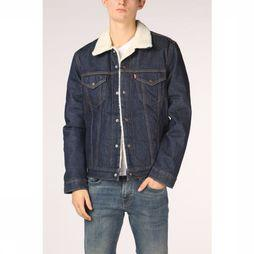 Levi's Coat Sherpa Trucker dark blue
