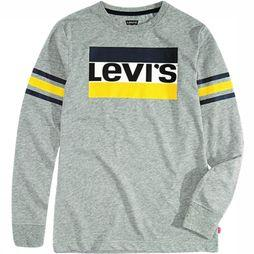 Levi's Kids T-Shirt Geoffrey Ls Light Grey Mixture