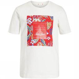 Jack & Jones T-Shirt ortropicana Wit