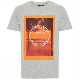 Lmtd By Name It T-Shirt mhank Light Grey Mixture