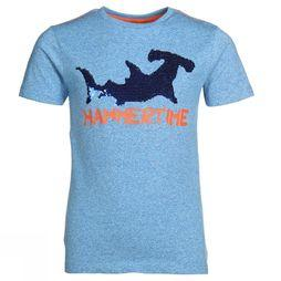 Someone T-Shirt Shark-Sb-02-G Blauw / Blauw