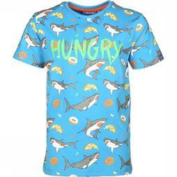 Someone T-Shirt Shark-Sb-02-B Bleu / Bleu