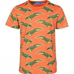 Someone T-Shirt Croco-Sb-02-A Orange/Vert