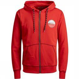 Jack & Jones Trui orbrook Sweat Zip Hood unior Rood