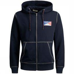 Jack & Jones Pullover orbrook Sweat Zip Hood unior dark blue