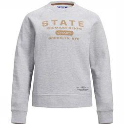 Jack & Jones Pull prvincent Blu. Sweat Crew Neck unior Gris Clair Mélange