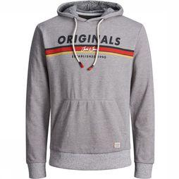 Jack & Jones Pullover ortuco Sweat Hood unior Light Grey Mixture