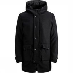 Jack & Jones Jas Jcovegas Wool Jacket Junior Zwart